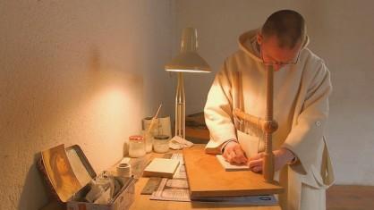 Le travail d'un moine chartreux